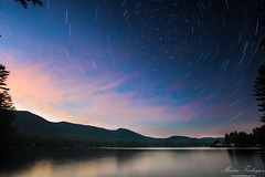 Sunset & Stars (Martin_Finlayson) Tags: lakealgonquin adirondacks stars trails sunset usa holiday evening water reflections wells ny layers photoshop lightroom nikon d600 1835mm raw tripod