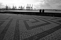 Neumhlen, Hamburg (difridi) Tags: difridi hamburg elbe neumhlen velgnne kran crane blackandwhite schwarzweiss monochrome geometry geometrie linien lines hafen harbour