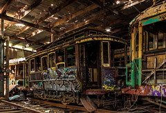 All Aboard (Robert Casboult) Tags: landscape longexposure trains trams graffiti art artistic historic museum canoneos6d heratige infrastructure sydney