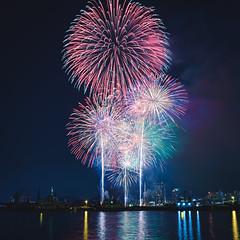 DSCF3388 (YUSHENG HSU) Tags: 日本 神戸 夜景 花火 花火大会 みなとこうべ海上花火大会