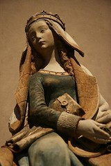 Notre Dame de Grasse, Gothic statue of the Virgin Mary, 15th century. Muse des Augustins, Toulouse, France. (mike catalonian) Tags: medieval france toulouse 15century virginmary statue gothic notredamedegrasse
