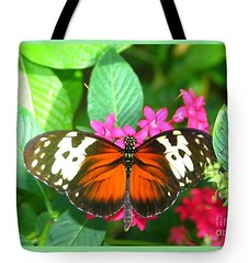 Happy Butterfly (1) (CheerfulWhimsy) Tags: butterfly photography tote bag nature original shopping