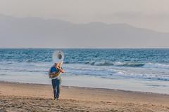 Tuba solo? (7/365) (pedrobueno_cruz) Tags: musician music beach sand waves sky colors clouds water ensenada baja california mxico mountain explored landscape d7200 365 blue sun sunset explorando da nubes nikon boy