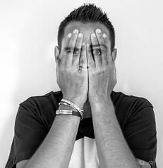 autoportrait montage 2 (Photo-LRC) Tags: autoportrait portrait portraiture hide hidden blackandwhite monochrome mono photoshop photoshopcc lightroom lightroomcc hands face fossil montage creative create inspiration wtf nikon teamnikon nikonfr 1855mm bandw