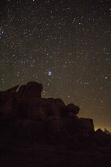 Vedauwoo Night 2 (PhotoStorm22) Tags: wy wyoming vedauwoo stars night sky rock rocks rockformation rockformations clamshell