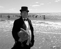 Dr. Takeshi Yamada and Seara (Coney Island Sea Rabbit) visited the Coney Island Polar Bear Club at the Coney Island Beach in Brooklyn, New York on April 3 (Sun), 2016. mermaid. merman. 20160403Sun DSCN4898=3530pC1BW (searabbits23) Tags: searabbit seara  taxidermy roguetaxidermy mart strange cryptozoology uma ufo esp curiosities oddities globalwarming climategate dragon mermaid unicorn art artist alchemy entertainer performer famous sexy playboy bikini fashion vogue goth gothic vampire steampunk barrackobama billclinton billgates sideshow freakshow star king pop god angel celebrity genius amc immortalized tv immortalizer japanese asian mardigras tophat google yahoo bing aol cnn coneyisland brooklyn newyork leonardodavinci damienhirst jeffkoons takashimurakami vangogh pablopicasso salvadordali waltdisney donaldtrump hillaryclinton polarbearclub