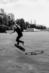 IMG_3330 (Alexey Gers) Tags: skateboard skater extreme blackandwhite shadow summer jump action
