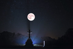 Cameron Harvest Moon 2015 Redux (superdavebrem77) Tags: composite atmospheric moon harvestmoon