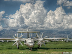 E-2C Boneyard Tucson, Arizona (WildernessShots.com) Tags: military airplane aircraft clouds arizona tucson boneyard
