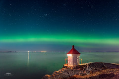 Upstaged (new edition) (huddart_martin) Tags: northernlights auroraborealis aurora norge norway seascape landscape sea lighthouse