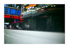 (Michael Raymond Lund) Tags: film 35mm slide e6 fujichrome provia 100f street urban new york city nyc color day neon light abstract olympus om 4ti olympusom4ti 42nd slr zuiko 50mm fuji fujifilm