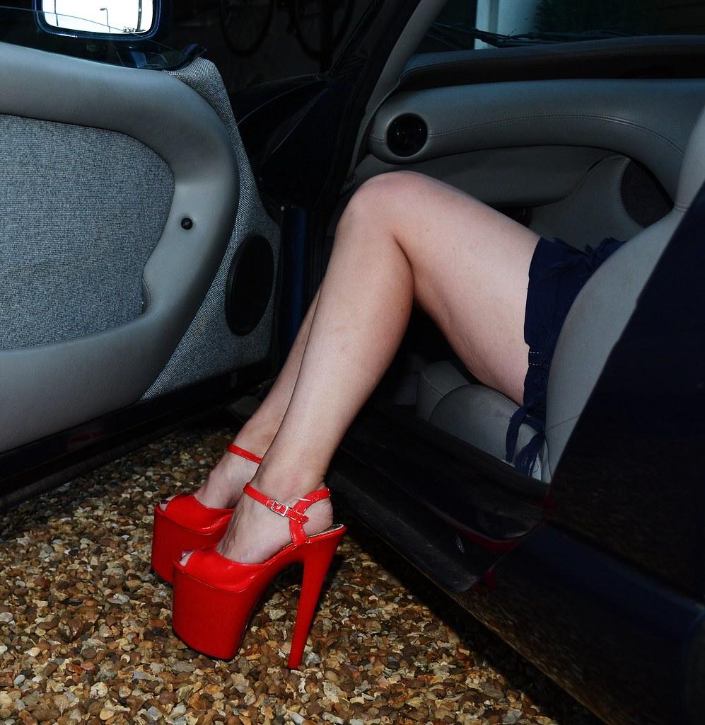 Hot mature legs with high heels