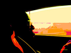Susie silhouette (Stephenie DeKouadio) Tags: canon portrait silhouette colour color colorful darkandlight woman artistic art highway