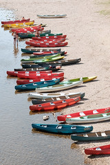 Canoes 1 (m-blacks) Tags: dordogne france perigord canoes limeuil aquitaine limousin villagesdefrance vzre river boat colorful fujifilm fujifilmx30 water riverside canoeing