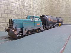 Sentinel Shunter 'Iron Duke' At The Refinery. (ManOfYorkshire) Tags: hornby sentinel shunter ironduke detailed weathered 176 scale model train railway refinery tank wagons shunting oogauge shell