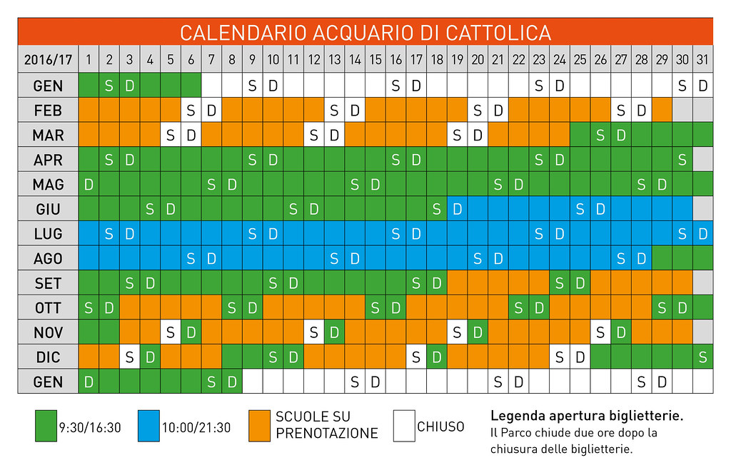 Orari e calendario apertura parco le Navi di Cattolica