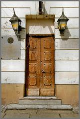 old door.......... (atsjebosma) Tags: doors old deur oud lampen lamps atsjebosma poznan poland polan stooep wooden houten tdd