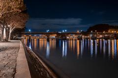 Sur le Chemin du Pont des Arts (the_wonderer_wanderer) Tags: pontdesarts bridge quai seine architecture cityscape citylights nightscape nightshot night paris tuileries reflection