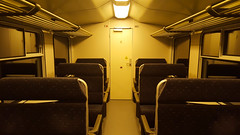 Empty and shady. (Azariel01) Tags: 2016 belgium belgique bruxelles brussels train wagon carriage shady glauque vide empty sncb nmbs door porte ligne26 premiereclasse firstclass uccle be