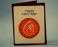 Happy New Year - Ganesh - Diwali (unnati_k_rana) Tags: happynewyear handmade handmadecard handmadepapers ganesh ganpati mudrastamps