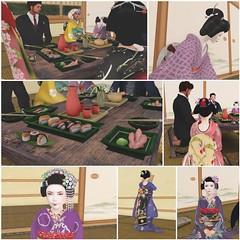 Grand Opening Ozashiki (Shikomi Ayumi) Tags: secondlife sl karyukai kagai kyoto ozashiki sushi geiko maiko hanafusa okiya minaraia