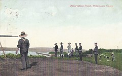 c. 1907 Valentine & Sons Postcard #102,592 - Observation Point / Overlooking the Ottawa River - Petawawa Camp, Ontario, Canada (WhiteRockPier) Tags: petawawa camppetawawa petawawacamp militia militiatraining wwi ontario worldwarone cef fieldpostoffice cds fpo artillery artillerypracticecamp rcha royalcanadianhorseartillery postcard valentinesons observationpoint