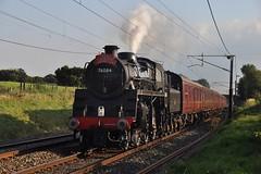 Standard Test Run (garstangpost.t21) Tags: 76084 brstandardclass4 woodacre lancashire steam 5m50 carnforth wcrc westcoastmainline wcml westcoastrailways 260