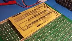 PCB in position (claudius9uk) Tags: pcb flipdotdisplay electronics
