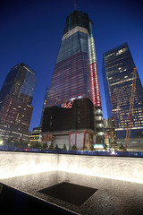 National-9-11-Memorial-Night-Sept-2011 (antoniobraza) Tags: newyork ny unitedstates 911 attacks freedomtower groundzero oneworldtrade september11 terrorism worldtradecentersite wtc