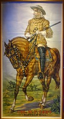 Large poster of Col. W. F. Cody (Buffalo Bill).  Exhibit at the Buffalo Bill Museum on Lookout Mountain, Colorado (lhboudreau) Tags: buffalobill buffalobillmuseum museum lookoutmountain colorado usa williamfcody williamfbuffalobillcody cody buffalobillcody colonel army military buckskins horse rifle painting illustration cowboyhat field exhibit poster colwfcody largeposter armyscout leather boots horseback