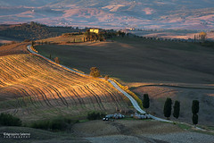 Tuscany morning (Agrippino Salerno) Tags: valdorcia italy tuscany pienza agrippinosalerno canon manfrotto morning light shadow hills whiteroad goldenhour cypress farmhouse countryside countryroad countryfarm colors sunrise travel trees