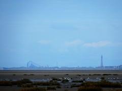 Blackpool from Southport (deltrems) Tags: southport sefton merseyside blackpool lancashire fylde coast pleasure beach bigone big one tower