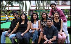 Group photo outdoors (Nagarjun) Tags: bangalore ruchi kaushal vedant anindita ipsita malathi sowmya murli casaansal