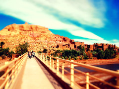 On the other side (Bjrn Giesenbauer) Tags: bridge morocco ksar kasbah aitbenhaddou faketiltshift