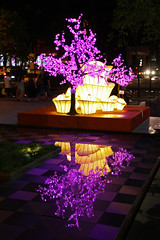 Seeing Purple (cymro76) Tags: reflections decoration lunarnewyear sinagpore scottsroad