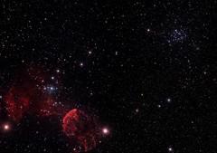 IC443 & M35 Mosaic (work in progress) (Chuck Manges) Tags: telescope astrophotography astronomy ccd m35 refractor ic443 jellyfishnebula Astrometrydotnet:status=solved Astrometrydotnet:version=14400 at65edq qhy9m Astrometrydotnet:id=alpha20130455571152