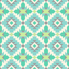 Seamless ethnic pattern in mint tints (abbycarter89) Tags: wild abstract texture geometric peru mexico design swatch apache pattern aztec native african pastel background traditional tribal east fabric american trendy navajo tribe ethnic seamless peruvian