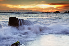 Mengening Beach ,Bali. (k2mogtin) Tags: sunset beach exotic baliisland kutabeach mengeningbeach