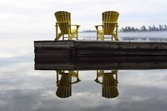 Reflections in the fog (Jamesr95) Tags: trees ontario canada reflection fog dock chairs muskoka adirondack jamessphotos