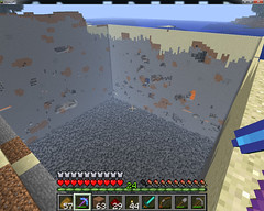 strip_mining_1 (MajorKoenig) Tags: game horizontal screenshot open pit mining gaming strip videogame autism bedrock stripmining openpitmining minecraft