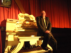 Paul Gregson, organist at the Royalty Cinema, Bowness, Cumbria. (Paul Gregson) Tags: cinema church organ cumbria windermere wurlitzer bowness bownessonwindermere organist organconsole wurlitzerorgan cinemaorgan royaltycinema paulgregson furnesstheatreorganproject