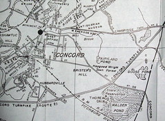 Concord MA 1951 (davecito) Tags: blackandwhite map massachusetts newengland ephemera planning 1950s transportation cartography concord waldenpond roadmap urbanplanning drafting ralphwaldoemerson streetmap citymap oldmap louisamayalcott vintagemap townmap highwaymap colonialsettlements