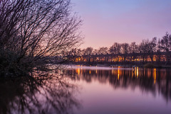 Smiths Pool Fenton (Raven Photography by Jenna Goodwin) Tags: trees sunset sun reflection water pool night photography long exposure colours dusk tag clear trent staffordshire stoke fenton smiths