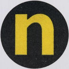 Vintage Sticker Letter n (Leo Reynolds) Tags: canon eos iso100 n letter squaredcircle nnn 60mm f80 oneletter letterset lowercase 0125sec 40d hpexif 066ev grouponeletter xsquarex xleol30x sqset092
