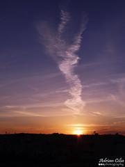 Smoking Sun --- Zebbug --- Malta (Drinu C) Tags: sunset sun nature clouds landscape smoke sony malta dsc zebbug hx100v adrianciliaphotography