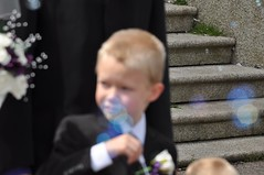 Harrison bubbles (bryanpage) Tags: wedding children harrison steps bubbles suit pageboy harrisonhendrixpage harrisonpage williamsonpark ashtonmemorial