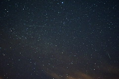 Lyrid Meteor Treble (Fishlogic) Tags: 3 5 sony lucky meteor hathersage nex 2013 trebble lyrid