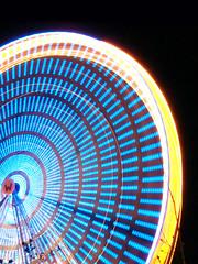 Ferris wheel in motion (Dani El H) Tags: light wheel germany deutschland ferris olympus hannover april riesenrad