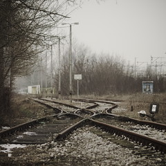 rail to nowhere (Darek Drapala) Tags: old railroad morning light color building abandoned station trash train dark lumix garbage rust ruins europe decay clusters ruin dump poland polska rail railway trains panasonic rubbish warsaw g2 waste dig warszawa panasonicg2