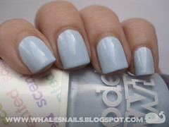 Blueberry Muffin, Models Own (Whale'sNails) Tags: blue swatch pastel nailpolish scented blueberrymuffin modelsown whalesnails